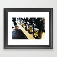 Fresh Beer Lives Here, Good George Brewing, Hamilton, NZ Framed Art Print