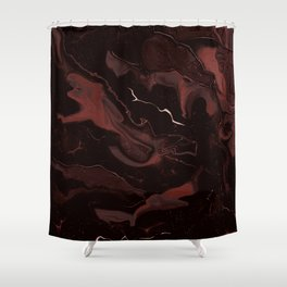 Abstract Astronomy in Crimson Red Shower Curtain