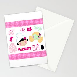 Beauty and spa design elements collection Stationery Cards