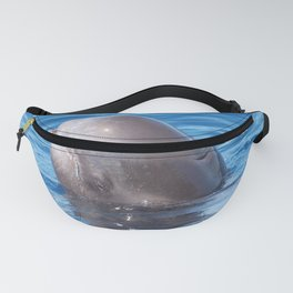 Cute wild pilot whale baby Fanny Pack