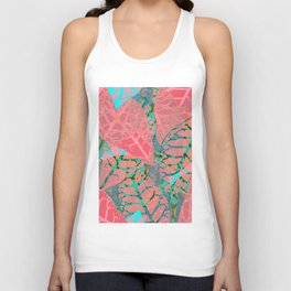 Coral Palm Shadows Unisex Tank Top