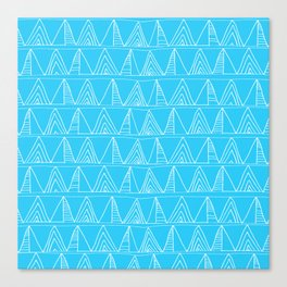 Triangles- Simple Triangle Pattern for hot summer days - Mix & Match Canvas Print