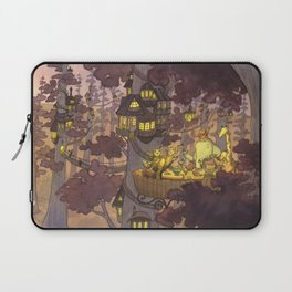 Treehouse Dinner With Animal Friends Laptop Sleeve