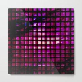 metallic grid Metal Print