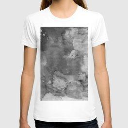 Black watercolor T-shirt