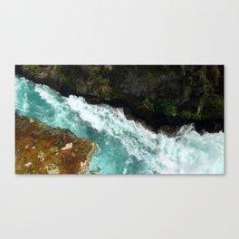 The Waikato at Huka Falls Canvas Print