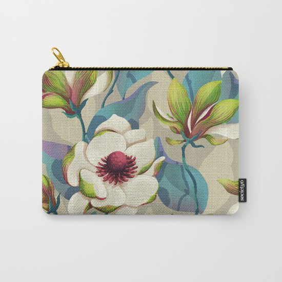 magnolia bloom - vivid version Carry-All Pouch