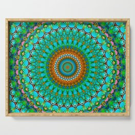 Geometric Mandala G388 Serving Tray