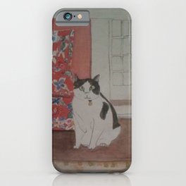 Cat with Floral Chair iPhone Case