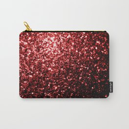 Beautiful Glamour Red Glitter sparkles Carry-All Pouch