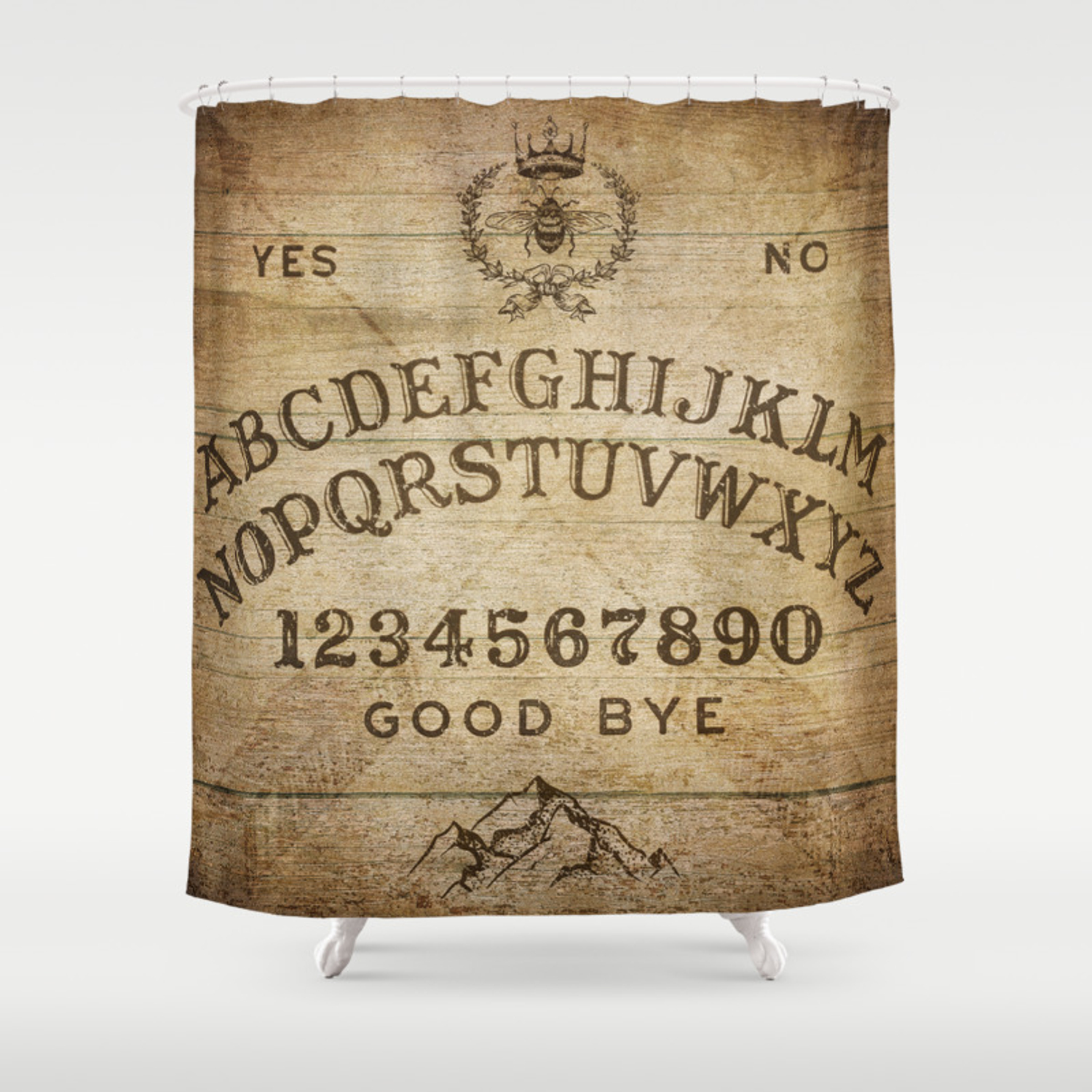 Ouija Board Rustic Version Shower Curtain