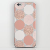 rose gold iPhone & iPod Skins featuring Rose Gold Dots by Georgiana Paraschiv