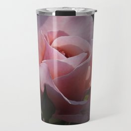 dreamy rosebuds on black Travel Mug