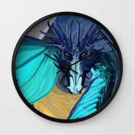 Sapphire Blaze Across the Canyon Wall Clock