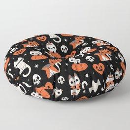 Halloween Kitties (Black) Floor Pillow