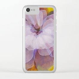Pink wedding flower Clear iPhone Case