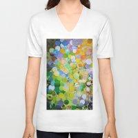 melissa smith V-neck T-shirts featuring Granny Smith by John Turck