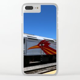 New Mexico Rail Runner Clear iPhone Case