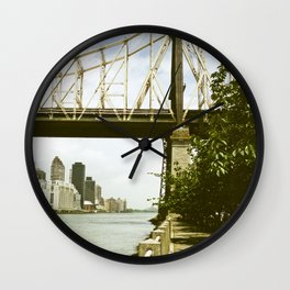 Queensboro Bridge New York City Wall Clock