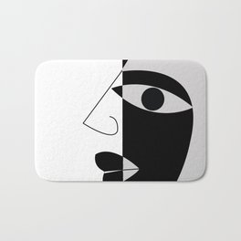 Black and white face Bath Mat