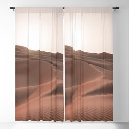 Sunset over the dunes Blackout Curtain