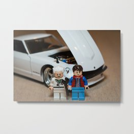 Marty, Doc and the Z Metal Print