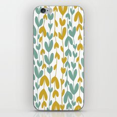 Yellow and Teal Leaves iPhone & iPod Skin