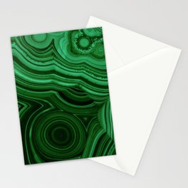 GREEN MALACHITE STONE PATTERN Stationery Cards