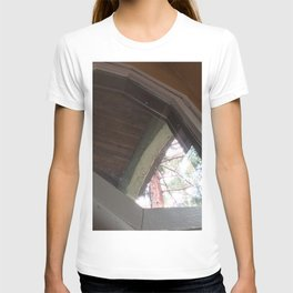 Antique kitchen window and redwood tree T-shirt