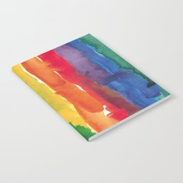 rainbow watercolor Notebook