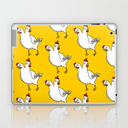 Two Headed Chicken Repeat Pattern Laptop & iPad Skin