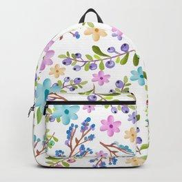 Pastel twigs floral waterolor pattern Backpack