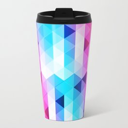 Abstract Triangle Colorful Travel Mug