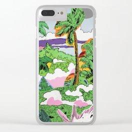 Smoke Jungle Clear iPhone Case