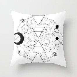 Celestial Alchemical Earth Throw Pillow