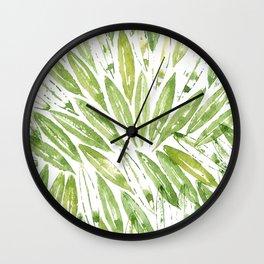 Olive tree leaves pattern Wall Clock