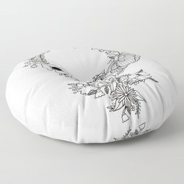 Feminist Flower  2.0 Floor Pillow