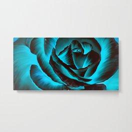 Ice Rose Metal Print