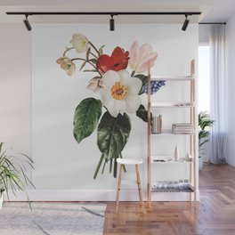 Spring Flowers Bouquet Wall Mural