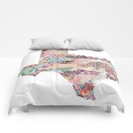 Texas map Comforters