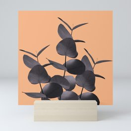 Eucalyptus Leaves Black Orange #1 #foliage #decor #art #society6 Mini Art Print
