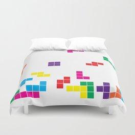 tetris on white Duvet Cover