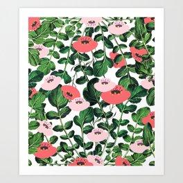 Parsnip & Poppies #society6 #decor #buyart Art Print