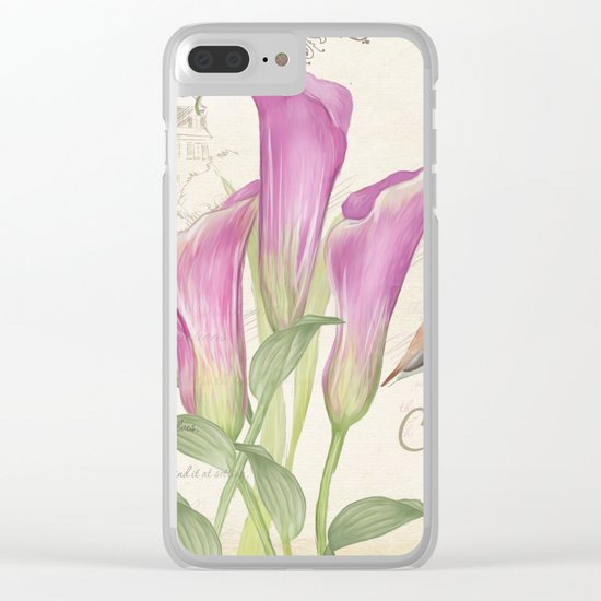 Macro flower #11 Clear iPhone Case
