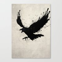 raven Canvas Prints featuring Raven by Nicklas Gustafsson