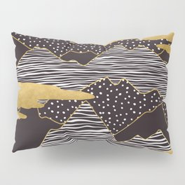Gold Mountain Peaks Pillow Sham