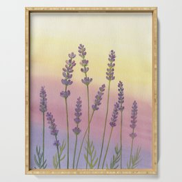Lavender in Sunset Serving Tray