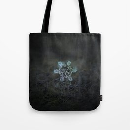 Real snowflake macro photo - Slight Asymmetry Tote Bag