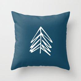 Pacific Northwest Evergreen   In Indigo Throw Pillow