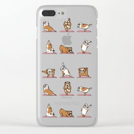 English Bulldog Yoga Clear iPhone Case
